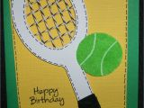 Tennis Birthday Cards Glora 39 S Crafts Tennis Birthday Card