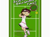 Tennis Birthday Cards Tennis Girl Birthday Card Zazzle Com Au