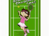Tennis Birthday Cards Tennis Girl Birthday Card Zazzle