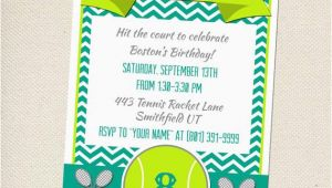 Tennis Birthday Party Invitations Tennis Party Invitation Customizable You Print