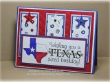 Texas Birthday Card Airbornewife 39 S Stamping Spot Owh Bonus Sketch Challenge