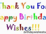 Thank You and Happy Birthday Quotes Birthday Wishes Reply Birthday Thank You Quotes Notes