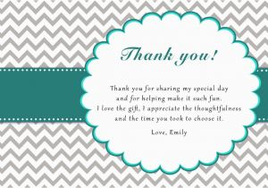 Thank You Card after Birthday Party 30 Chevron Thank You Card Notes Teal and Grey Adult Kids