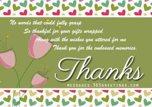 Thank You Card after Birthday Party Birthday Thank You Messages Thank You for Birthday Wishes