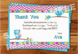 Thank You Card after Birthday Party Thank You Letter after Birthday Party Letters Font