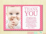 Thank You Card for Kids Birthday First Birthday Matching Thank You Card 4×6 the Big One Diy