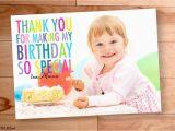 Thank You Card for Kids Birthday Kids Birthday Thank You Thank You Photo Cards Kids Thank