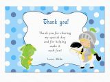 Thank You Card for Kids Birthday Personalized Any Wording Knight Dragon Polka Dots Thank You