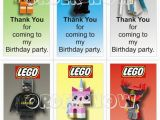 Thank You for Coming to My Birthday Cards Lego Movie Quot Thank You for Coming to My Birthday Party
