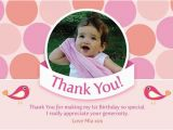 Thank You for Coming to My Birthday Cards Printable Birthday Party Thank You Card Polka Dot Coco