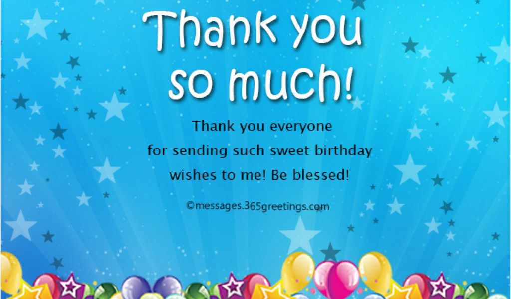 Thank You For Coming To My Birthday Cards Message