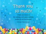 Thank You for Coming to My Birthday Cards Thank You Message for Birthday Wishes On Facebook