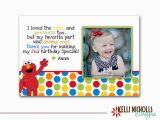 Thank You for Your Birthday Card Elmo Photo Birthday Thank You Card Custom for Maryanne