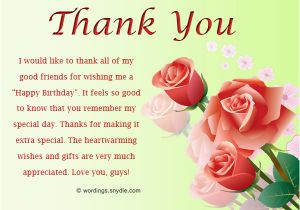Thank You Note For Birthday Flowers How To Say Wishes Wordings And