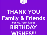 Thanks for Happy Birthday Wishes Quotes Thank You Family Friends for All Your Sweet Birthday