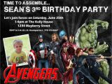 The Avengers Birthday Invitations Avengers Birthday Invitation Design W Child 39 S Photo