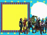 The Avengers Birthday Invitations Avengers Free Printable Invitations Oh My Fiesta In