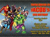 The Avengers Birthday Invitations Avengers Invitations Superhero Printable Birthday