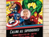 The Avengers Birthday Invitations Comic Marvel Birthday Photo Invitation Avengers Marvel