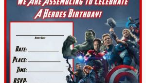 The Avengers Birthday Invitations Free Avengers Age Of Ultron Printable Birthday Invitation
