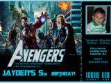 The Avengers Birthday Invitations the Avengers Birthday Invitation 2 Avengers Movie
