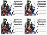 The Avengers Birthday Invitations the Avengers Birthday Party Invitations Free Printable