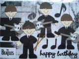 The Beatles Birthday Card Beatles Birthday Card A5 by Cardsbydoodlebug On Etsy