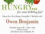 The Hungry Caterpillar Birthday Invitations the Very Hungry Caterpillar Birthday Invitations Party