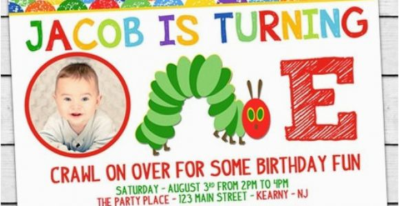 The Hungry Caterpillar Birthday Invitations the Very Hungry Caterpillar Birthday Party Photo