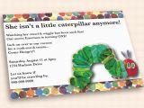 The Hungry Caterpillar Birthday Invitations Very Hungry Caterpillar Birthday Invitation by Cuttlefishg