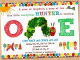 The Hungry Caterpillar Birthday Invitations Very Hungry Caterpillar Invitation First by