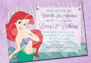The Little Mermaid Invitations For Birthday Ariel Invitation