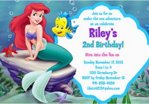 The Little Mermaid Invitations For Birthday Free Printable