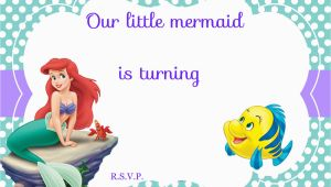 The Little Mermaid Invitations for Birthday Updated Free Printable Ariel the Little Mermaid