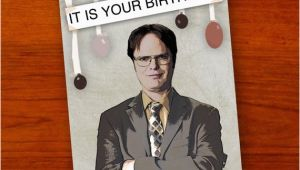 The Office themed Birthday Cards Dwight Schrute the Office Birthday Card by Ohlookitsartsy
