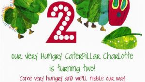 The Very Hungry Caterpillar Birthday Invitations the Very Hungry Caterpillar by Eric Carle Birthday Party