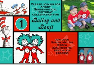 Thing 1 And 2 Birthday Invitations Free Printable Party