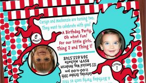 Thing 1 and Thing 2 Birthday Invitations Thing 1 and Thing 2 Invitation Mimi 39 S Dollhouse