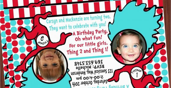 Thing 1 And 2 Birthday Invitations Invitation Mimi 39 S
