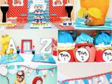 Thing 1 and Thing 2 Birthday Party Decorations Kara 39 S Party Ideas Thing 1 and Thing 2 Twin Birthday Party