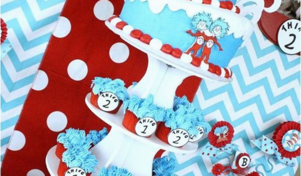 Thing 1 And Thing 2 Birthday Party Decorations Kara 39 S Party Ideas