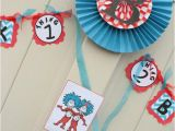 Thing 1 and Thing 2 Birthday Party Decorations Kara 39 S Party Ideas Thing One Thing Two Dr Seuss Twins 1st
