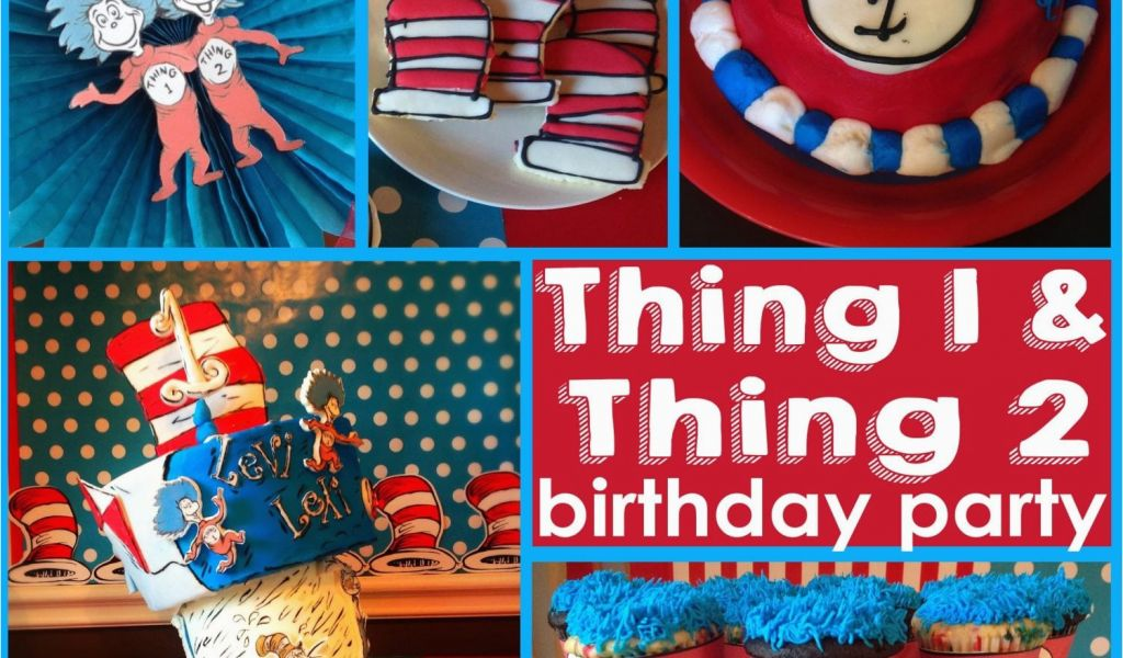 Download By SizeHandphone Tablet Desktop Original Size Back To Thing 1 And 2 Birthday Party Decorations