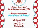 Thing 1 Thing 2 Birthday Invitations Thing 1 and Thing 2 Birthday Party Invitations