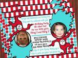 Thing 1 Thing 2 Birthday Invitations Thing 1 and Thing 2 Invitation Mimi 39 S Dollhouse