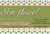 Third Birthday Invitation Wording Third Birthday Invitation Rhymes