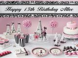 Thirteenth Birthday Party Decorations Pink Paris 13th Birthday Party Supplies Party City