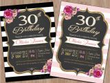 Thirtieth Birthday Invitations 20 Interesting 30th Birthday Invitations themes Wording
