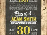 Thirtieth Birthday Invitations 30th Birthday Invitation Surprise 30th Birthday Invite Diy
