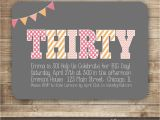 Thirtieth Birthday Invitations 30th Birthday Invitation Thirty 40th 50th Birthday